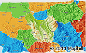 Physical 3D Map of Berat, political outside