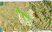 Physical 3D Map of Berat, satellite outside