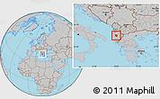 Gray Location Map of Berat