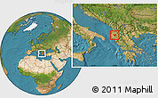 Satellite Location Map of Berat