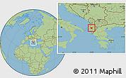 Savanna Style Location Map of Berat