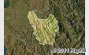Satellite Map of Berat, darken