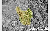 Satellite Map of Berat, desaturated