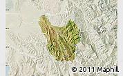 Satellite Map of Berat, lighten