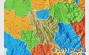 Satellite Map of Berat, political outside