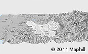 Gray Panoramic Map of Berat