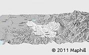 Gray Panoramic Map of Berat