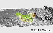 Physical Panoramic Map of Berat, desaturated
