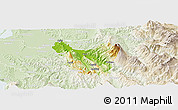 Physical Panoramic Map of Berat, lighten