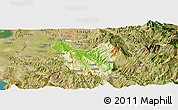 Physical Panoramic Map of Berat, satellite outside