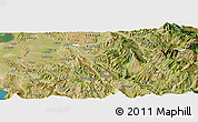 Satellite Panoramic Map of Berat