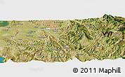 Satellite Panoramic Map of Berat