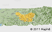 Savanna Style Panoramic Map of Berat