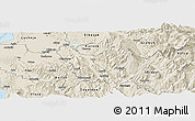 Shaded Relief Panoramic Map of Berat