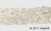 Shaded Relief Panoramic Map of Berat