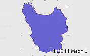 Political Simple Map of Berat, cropped outside