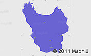 Political Simple Map of Berat, single color outside