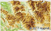 Physical 3D Map of Bulquizë
