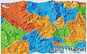 Political 3D Map of Bulquizë