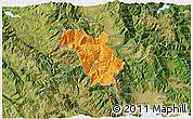 Political 3D Map of Bulquizë, satellite outside