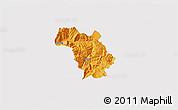 Political 3D Map of Bulquizë, single color outside