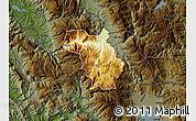 Physical Map of Bulquizë, darken