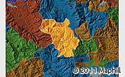 Political Map of Bulquizë, darken