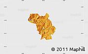 Political Map of Bulquizë, single color outside