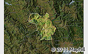 Satellite Map of Bulquizë, darken