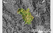 Satellite Map of Bulquizë, desaturated