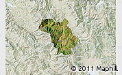Satellite Map of Bulquizë, lighten