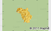 Savanna Style Map of Bulquizë, single color outside