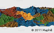 Political Panoramic Map of Bulquizë, darken
