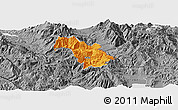 Political Panoramic Map of Bulquizë, desaturated