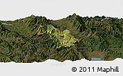 Satellite Panoramic Map of Bulquizë, darken
