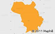 Political Simple Map of Bulquizë, single color outside
