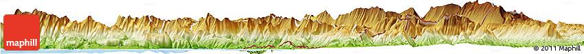 Physical Horizon Map of Delvinë