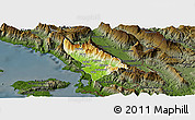 Physical Panoramic Map of Delvinë, darken