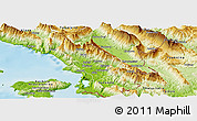 Physical Panoramic Map of Delvinë