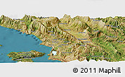 Satellite Panoramic Map of Delvinë