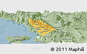Savanna Style Panoramic Map of Delvinë