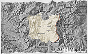 Shaded Relief 3D Map of Dibër, darken, desaturated
