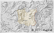 Shaded Relief 3D Map of Dibër, desaturated