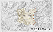 Shaded Relief 3D Map of Dibër, lighten, desaturated