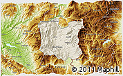 Shaded Relief 3D Map of Dibër, physical outside
