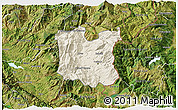 Shaded Relief 3D Map of Dibër, satellite outside