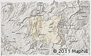 Shaded Relief 3D Map of Dibër, semi-desaturated