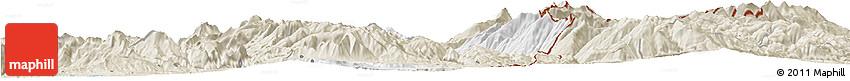 Classic Style Horizon Map of Dibër