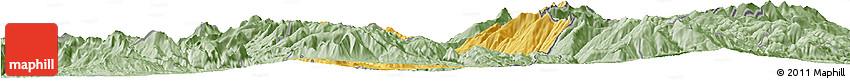 Savanna Style Horizon Map of Dibër