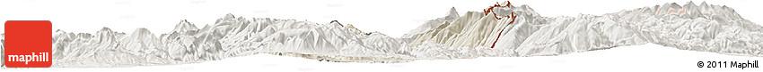 Shaded Relief Horizon Map of Dibër, lighten